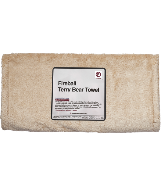 Fireball Terry Bear Towel 40x80